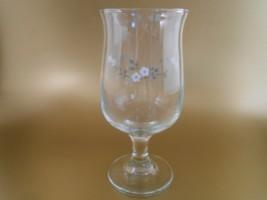 1980's Pfaltzgraff Heirloom 12 oz Water Goblet Glass Stemware Tulip Shape - $6.00