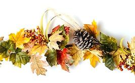 CraftMore Fall Mixed Maple Leaf Garland 6' image 4