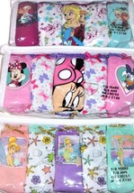 Disney Store Frozen Minnie Mouse Tinker Bell Girls Panties 7/8 Years 5 Pack New - $27.45