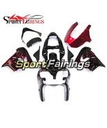 Black Red Flames Fairings for Kawasaki ZX9R 2000-2001 00-01 ABS Fairing ... - $394.21