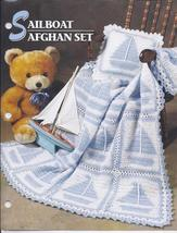 Sailboat Afghan Set Crochet Pattern~Annie's Attic - $24.99