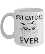 Funny Cat 11oz Coffee Mug - Best Cat Dad Ever - Unique Gift For Men and ... - £14.24 GBP