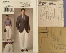 NEW Vogue Men's Suit Jacket & Pants Sizes 34-40 Pattern 8719 Uncut /FF image 6