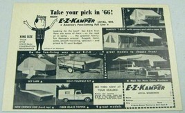 1966 Print Ad E-Z-Kamper Tent Camping Trailers Made in Loyal,WI - $10.50
