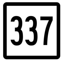 Connecticut State Route 337 Sticker Decal R5250 Highway Route Sign - $1.45+