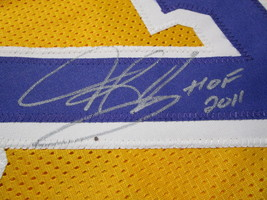 DENNIS RODMAN / NBA HALL OF FAME / AUTOGRAPHED L.A. LAKERS CUSTOM JERSEY / COA image 4