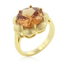 Champagne Floral Cocktail Ring - $36.00