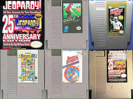 ESTATE LOT (Nintendo NES 1980's Games) Baseball Golf Jeopardy Track/Fiel... - $18.00