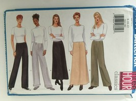 Butterick 5844 Sewing Pattern Very Easy A-Line Skirt Straight Legged Pan... - $2.99