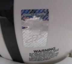 EMMITT SMITH / AUTOGRAPHED DALLAS COWBOYS LOGO WHITE MINI HELMET / PLAYER HOLO image 6