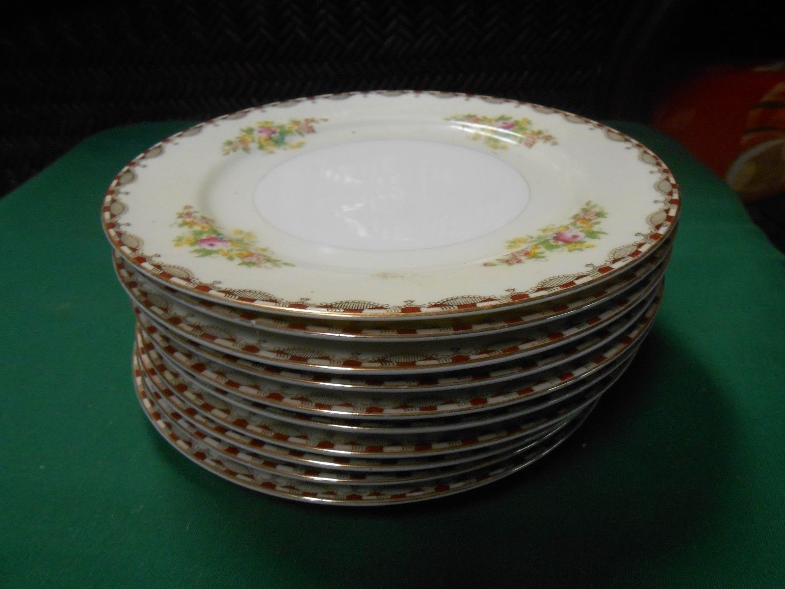 Primary image for Great MEITO China Handpainted ...Set of 9 BREAD / SALAD / DESSERT Plates