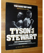 1990 Mike Tyson Vs Stewart Official Fight Poster 28 X 22 - $99.99