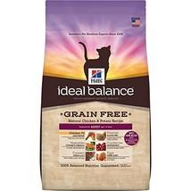Hill'S Ideal Balance Adult Grain Free Cat Food, Natural Chicken & Potato... - $48.01