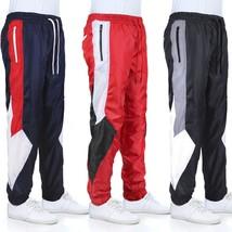 LR Men's Retro Urban Lightweight Athletic Casual Striped Gym Track Sweat Pants
