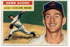1956 Topps #140 Herb Score Indians (Gray Back) EX Excellent (RC - Rookie... - $25.00