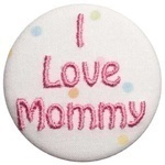 """I love Mommy"" Pacifier Clip and Pacifier"