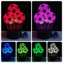 Football Ball Soccer LED 3D Illusion Lamp Light Lamplight Neon Sign 2D L... - $24.70