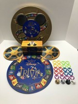 VTG The Wonderful World Of Disney Trivia Board Game 1997 in Collector's Gold Tin - $54.40