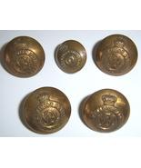 5 Royal Canadian Artillery  brass buttons  - $14.99