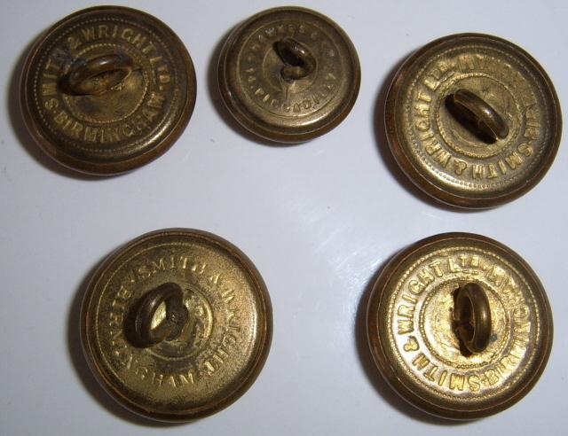 5 Royal Canadian Artillery  brass buttons