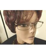 Women Eyeglass Frame Rectangle Square Round Prescriptio Rx Brown Rim Lens Metal - $47.53