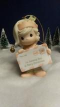 Precious Moments 1998 Hanging Ornament 45562 I'm Sending You A Merry Christmas! - $14.85
