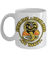 Karate Cobra Strike First Hard No Mercy Coffee Mug Gift - £11.59 GBP