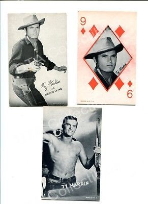 Primary image for TY HARDIN 3 ARCADE CARD LOT- BRONCO LAYNE!!! FN