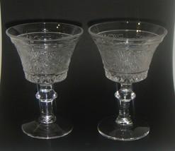 Vintage Glass Duncan & Miller SANDWICH GLASS Stem Glasses - $9.49