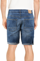 Men's Distressed Denim Light Faded Wash Stretch Ripped Casual Jean Shorts image 4