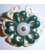 Nice floral button Plastic china BJs - $6.00