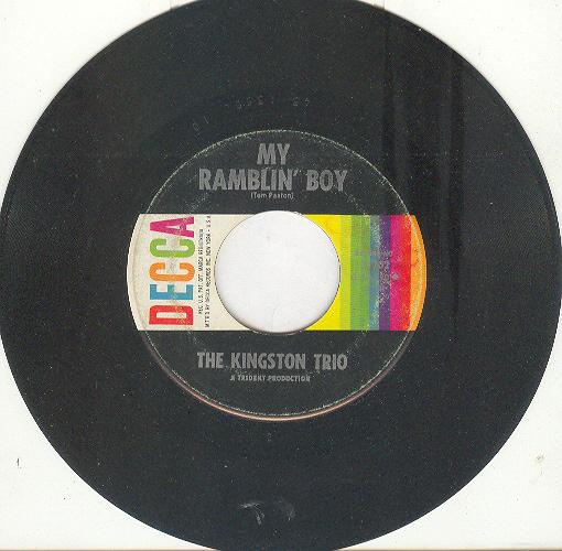 Kingston trio ramblin boy