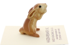 Hagen-Renaker Miniature Ceramic Rabbit Figurine Honey Bunny Brown image 1