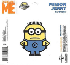Despicable Me Minion Jerry Figure Peel Off Car Sticker Decal NEW UNUSED - $2.95