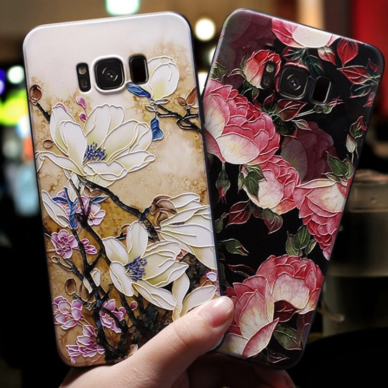 Primary image for 3D Relief Flower Case For Samsung Galaxy A7 A5 A8 A6 Plus A3 2016 Case Silicone