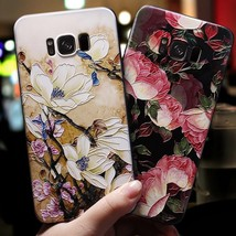 3D Relief Flower Case For Samsung Galaxy A7 A5 A8 A6 Plus A3 2016 Case S... - $9.98