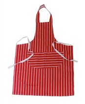 Rojo Blanco Pesado Grueso 100% Algodón Cocina Butchers Delantal Rayas 70... - $9.34
