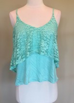 Rue21 Mint Green Top Lace Spaghetti Strap New Womens Junior Small - $12.99
