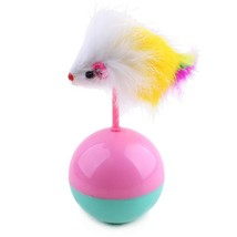 Funny Cat Toy Mouse Tumbler Ball Toy Furry Kitten Playing Toy Scratch Toy - $2.50