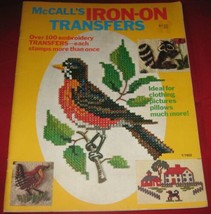 McCall's Iron-On Transfers Over 100 Embroidery Stamps Transfers Craft Book - $8.90