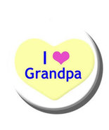 """I love Grandpa"" Button, Pacifier and Pacifier Clip - $12.00"