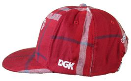 DGK Burgundy Red Plaid For Those Who Come From Nothing Snapback Baseball Hat Cap image 5