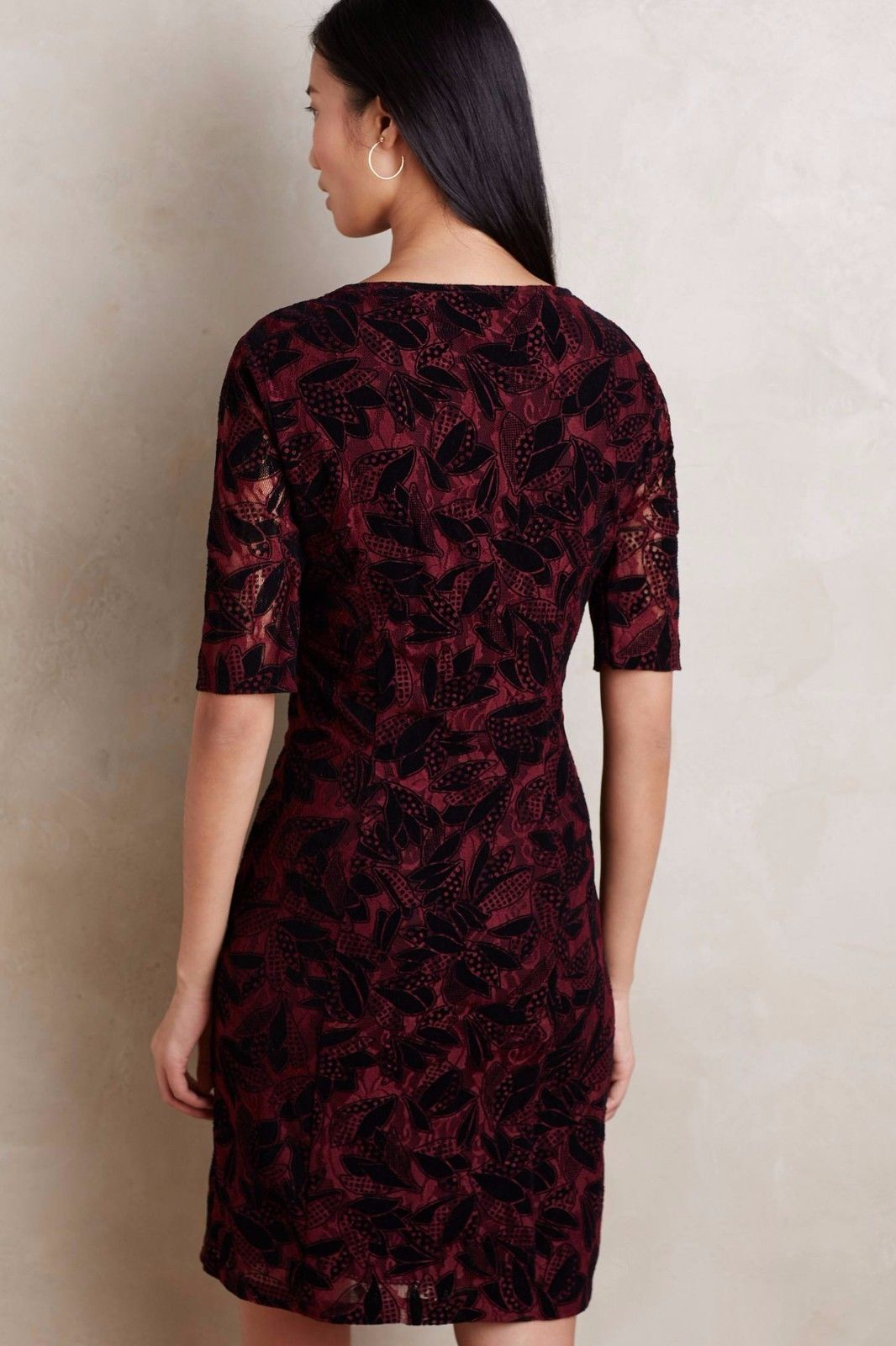 NWT ANTHROPOLOGIE ELORN WINE DRESS by MAEVE 4