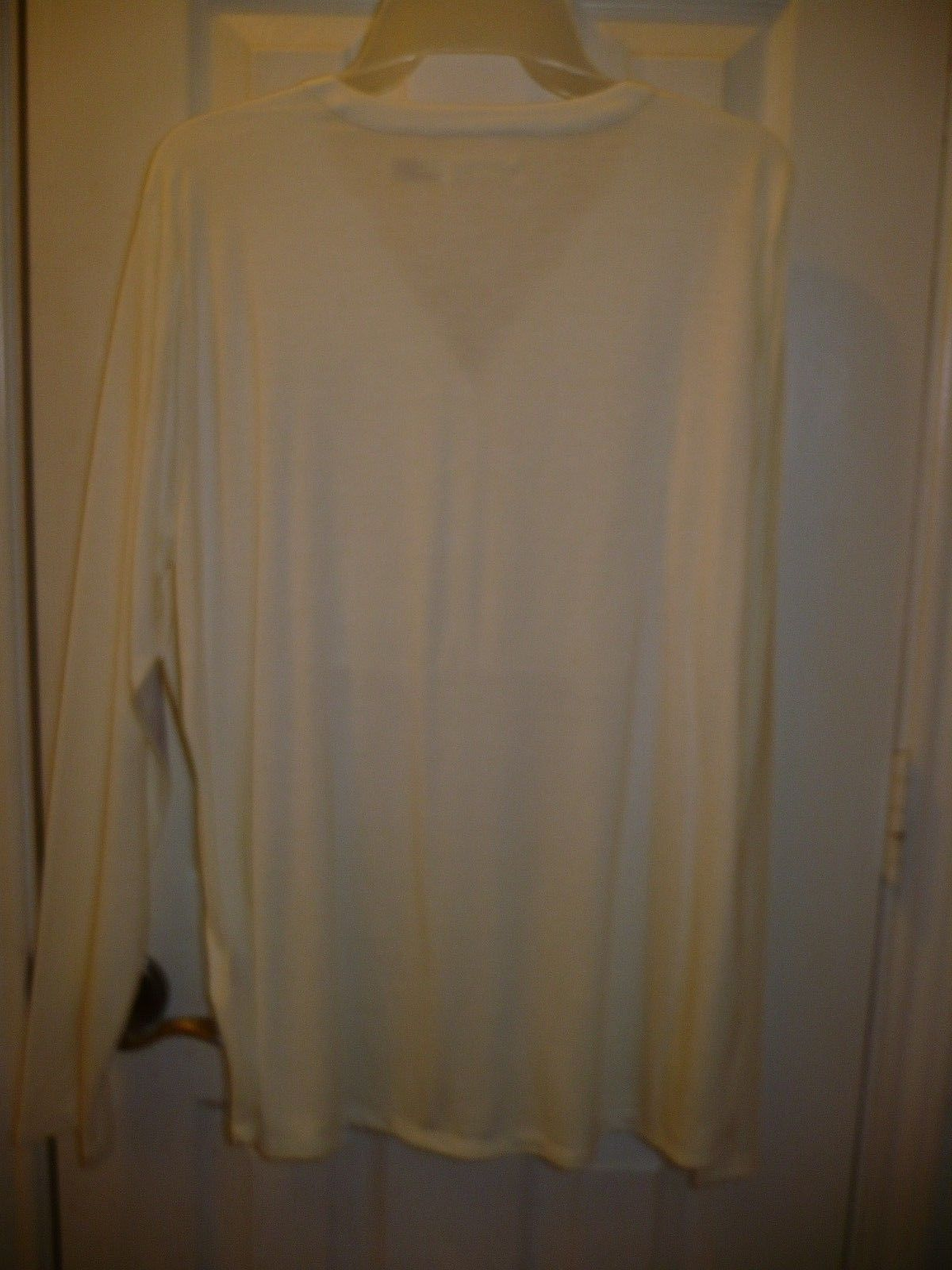 Faded Glory Women's Long Sleeve Henley Top W Velvet Tusk Color X-Large 16-18