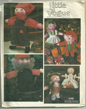 "Little Vogue Pattern 1546 16"" Doll & Clothing Christmas, Judaica, Colonial - $9.99"
