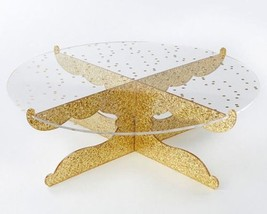 Gold Glitter Acrylic Cake Stand - Party Time - $37.57