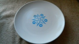 Corning Centura Cornflower Blue Bread /DESSERT Plates X 4 Free Usa Shipping - $46.74