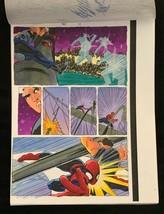 SPIDER-MAN Marvel original hand painted color guide art 1998 X-Man p.11 - $32.37