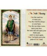 An Irish Blessing Prayer Card Saint Patrick - Item EB762 - Catholic Lami... - $2.37