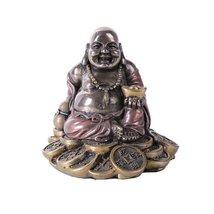 Small Maitreya Buddha With Golden Nugget Figurine Buddhism Statue - $15.44